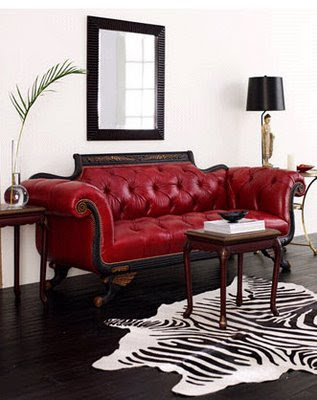 tufted+red+sofa kanepeler