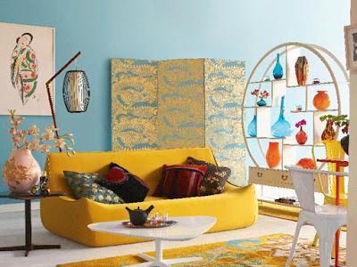 dekorasyonda+canl%C4%B1+renkler dekorasyonda renk kullanımı