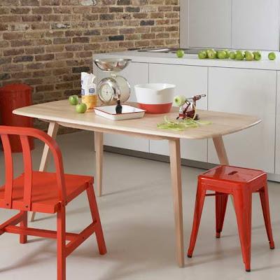 k%C4%B1rm%C4%B1z%C4%B1+mutfak+sandalyesi+ve+tabure Dekorasyonda kırımızı renk