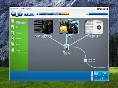 Future File Management Mockup Screenshot
