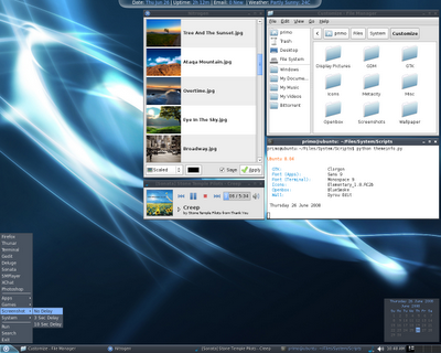 Openbox, Pypanel and Netwmpager Desktop Screenshot