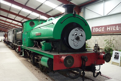 Restored steam engine in the Ribble Steam Railway Museum