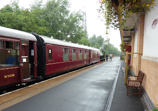 On the platform - admission includes unlimited train rides