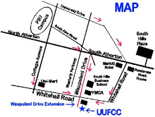 Map to UUFCC Location