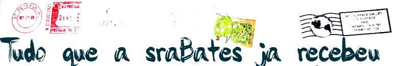 Todas as amostras gratis que a sra.Bates ja recebeu !