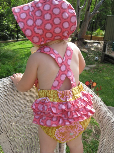 Ruffle Sunsuit Free Pattern And Tutorial Clever Tinker