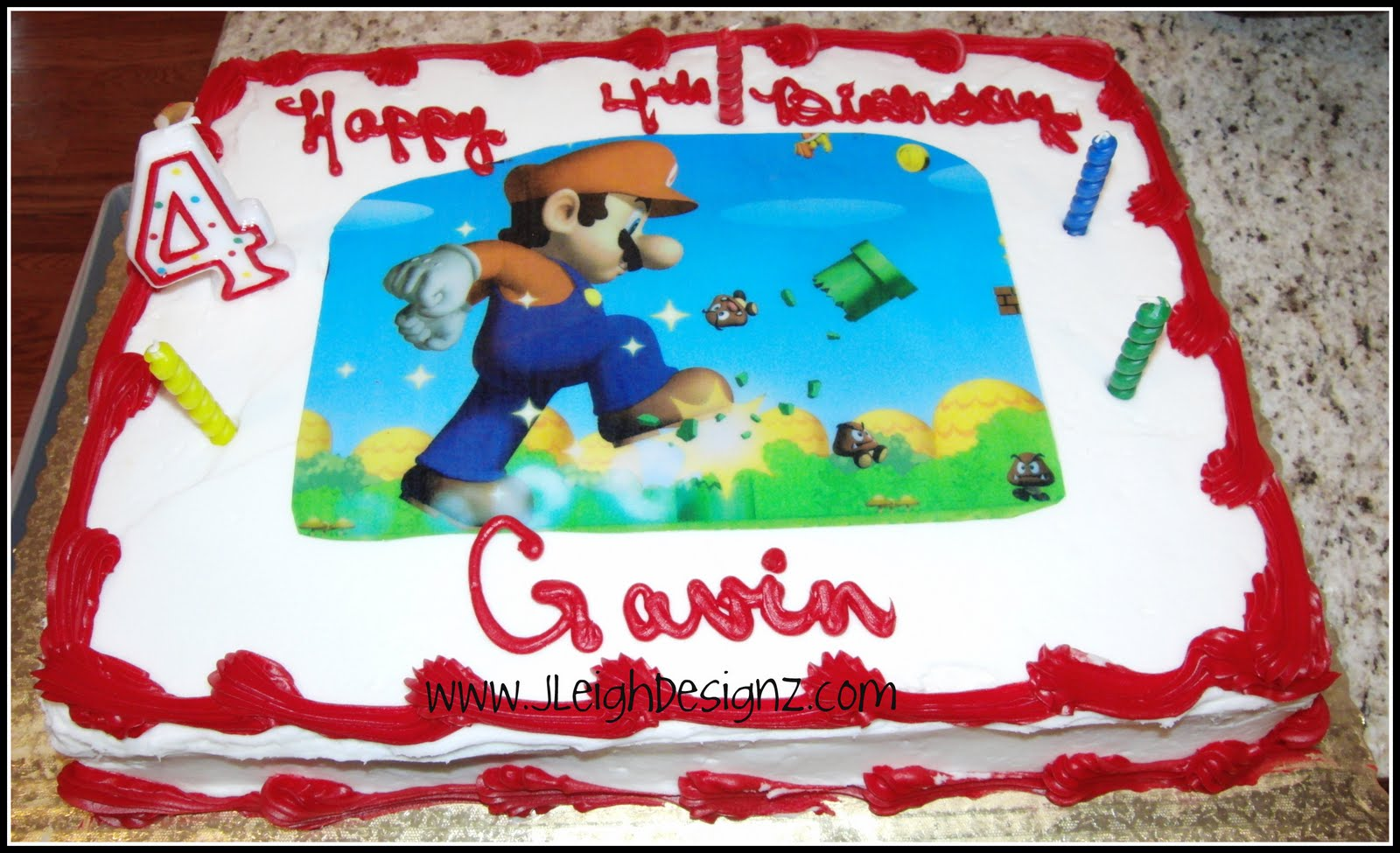 My Super Mario Brother Cake For Gavins Birthday Party Momspotted