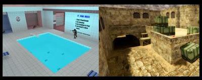 Dust 2 e Pool Day para Counter Strike