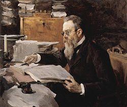 Rimsky-Korsakoff portrait by Serov