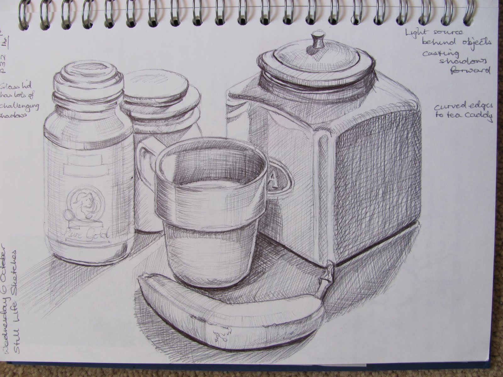 Scribble Drawing Of Objects : Cathy s oca learning log