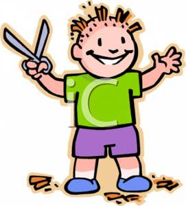 Boy_Cutting_His_Own_Hair_Holding_Scizzors_Royalty_Free_Clipart_Picture
