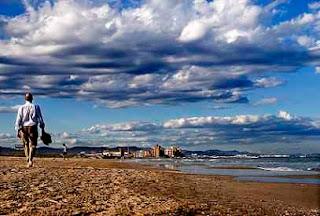 Delicia Pasear playa mar
