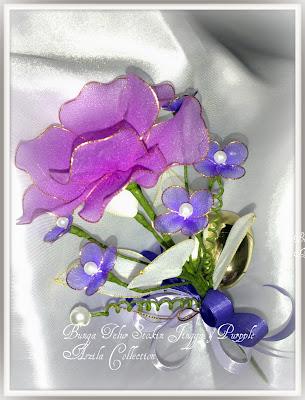 Gerbang Perkahwinan Aszila: Bunga Telur Stokin Jingga & Purpple