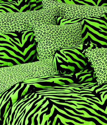 lime zebra bedding