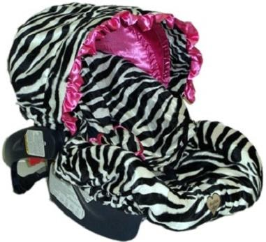 Zebra Print Car Seat For Infant