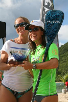 Blown glass SUP trophy