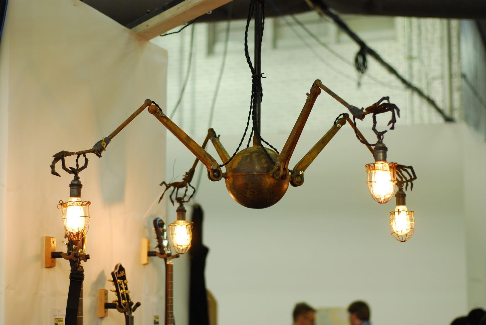 Man cave steampunk spider steampunk lamp steampunk for Lighting decor