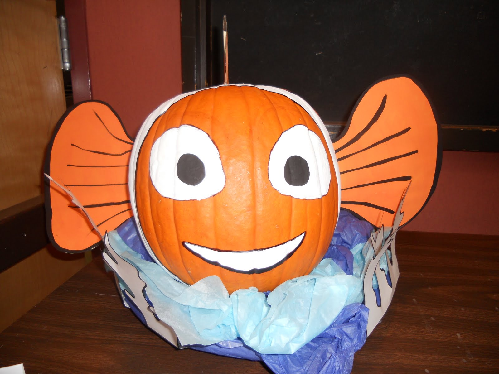 Razle dazle events from the archive clown fish pumpkin for Clown pumpkin painting
