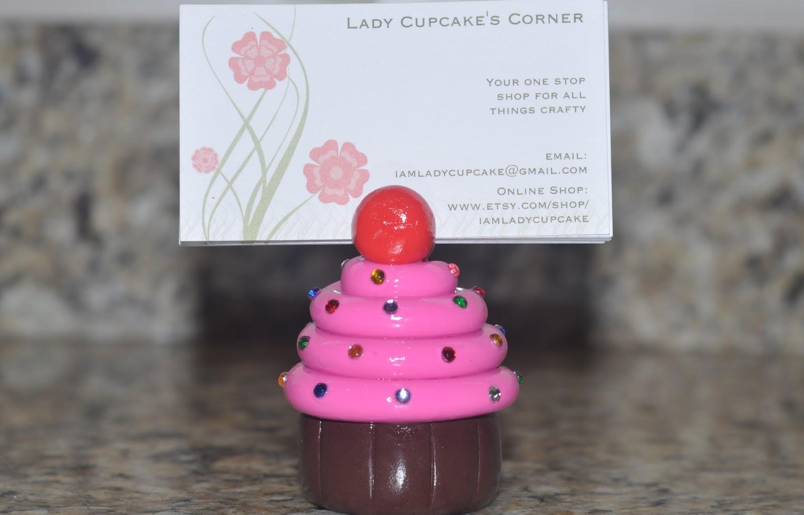 Sometimes I Craft Myself: Cupcake Business Card Holder