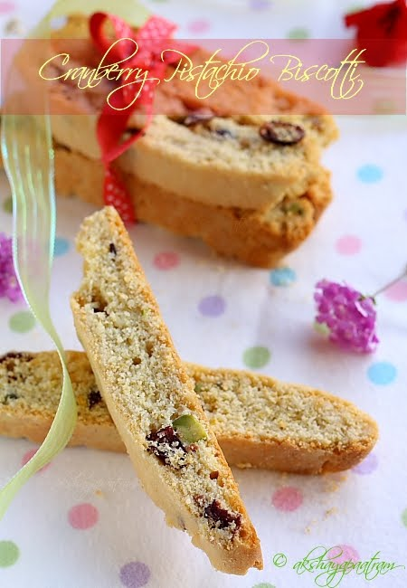 Cranberry-Pistachio Biscotti
