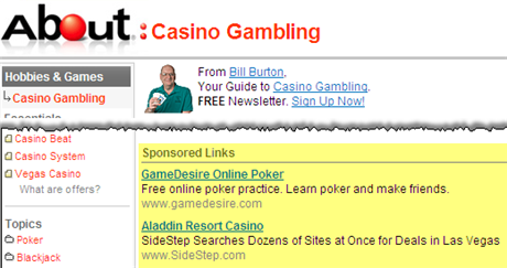 Ads on Gambling