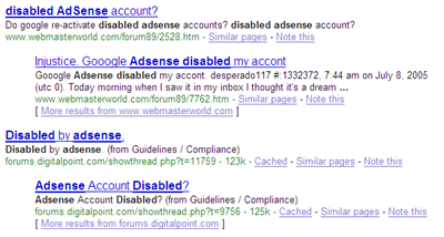 Restore Your Disabled Adsense Account for $99.95 ?