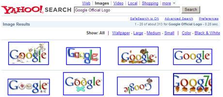 Google Logo on Yahoo