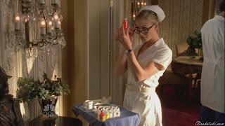 Yvonne Strahovski as a nurse