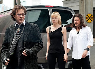 Nate as a fasion designer on Leverage