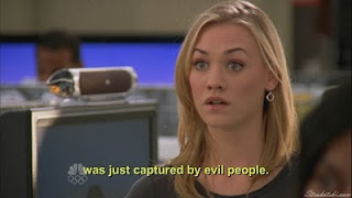A shocked Yvonne Strahovski