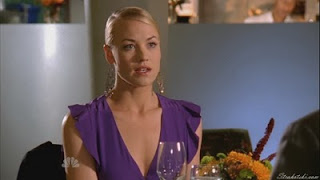 Yvonne Strahovski in purple