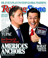 John Stewart and Stephen Colbert