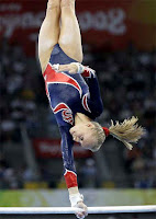 Nastia Liukin in red white and blue