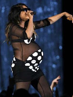 A very pregnant M.I.A. at the Grammy's