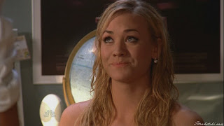Yvonne Strahovski after getting caught in the sprinklers