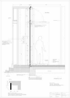Haustür detail schnitt  Wohnhaus Dankwartstraße