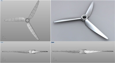 Modeling challenge modeling a propeller t splines blog for T spline architecture