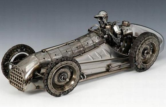 11 amazing Sculptures made By Car Parts 9