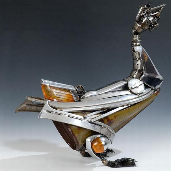 11 amazing Sculptures made By Car Parts 7