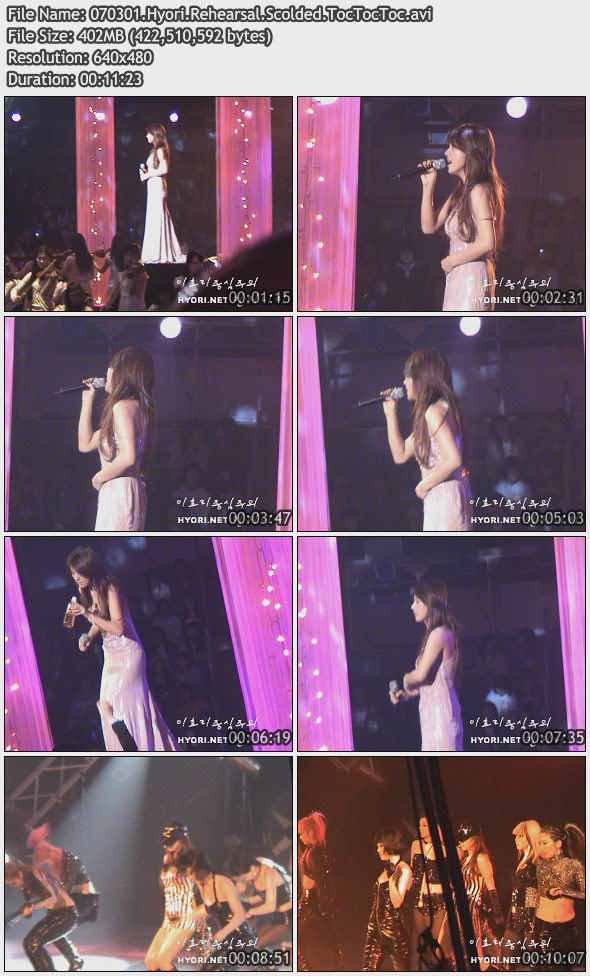 [070301] Hyori - Scolded & TocTocToc Shooting [402M/avi] 070301HyoriRehearsalScoldedTocTocTo