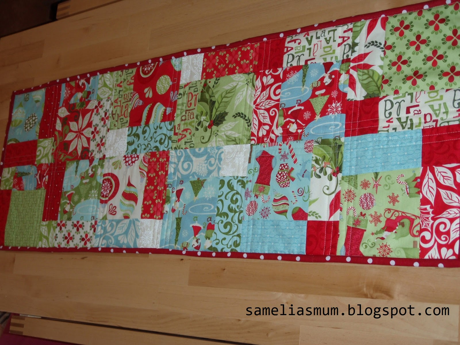 Tutorial Christmas xmas Runner Table table  runner patchwork