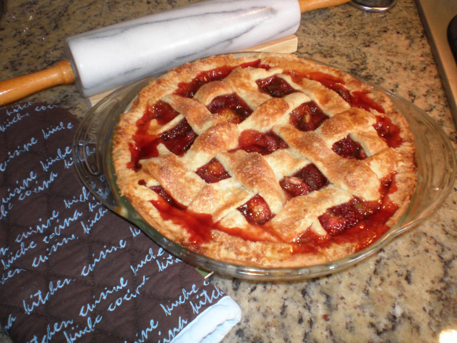 Recetas Sencillas: Tarta de Fresas (Pie de Fresas)