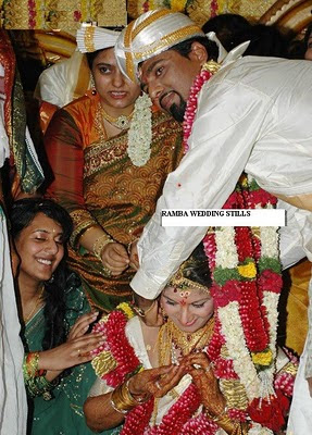 Rambha wedding photo