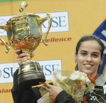 <br />Saina Nehwal wins Indonesian open