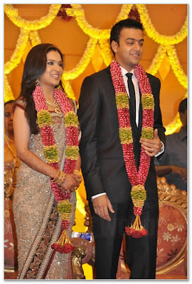 Rajinikanth's daughter Soundarya reception photos / stills