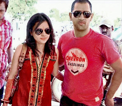 Dhoni and Sakshi rare stills
