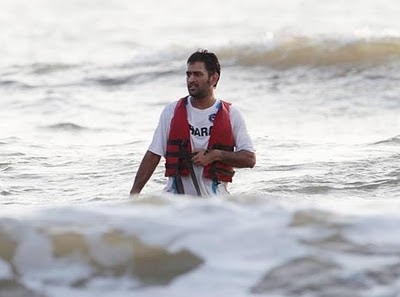 Dhoni  in Goa photo