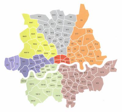 cordgrass: London postcode map Hornsey