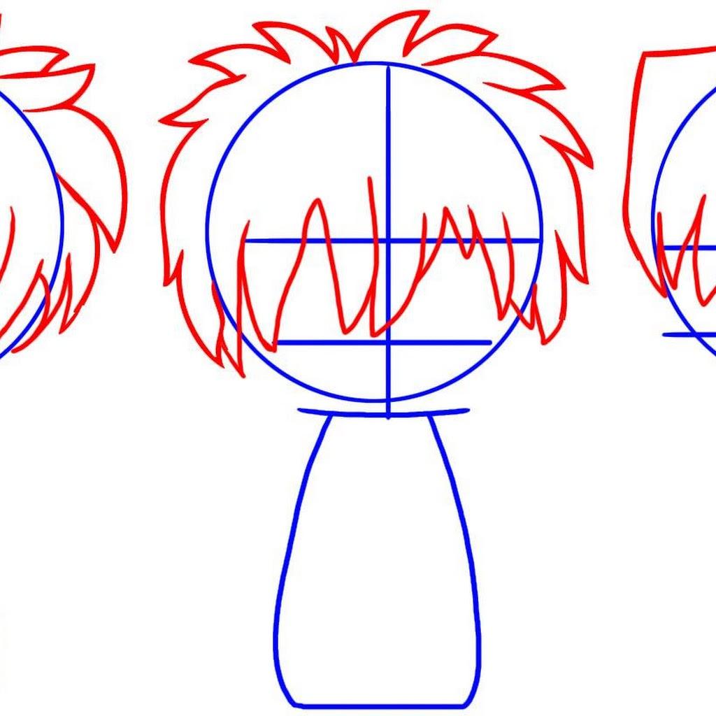 Anime Chibi Drawing Hair