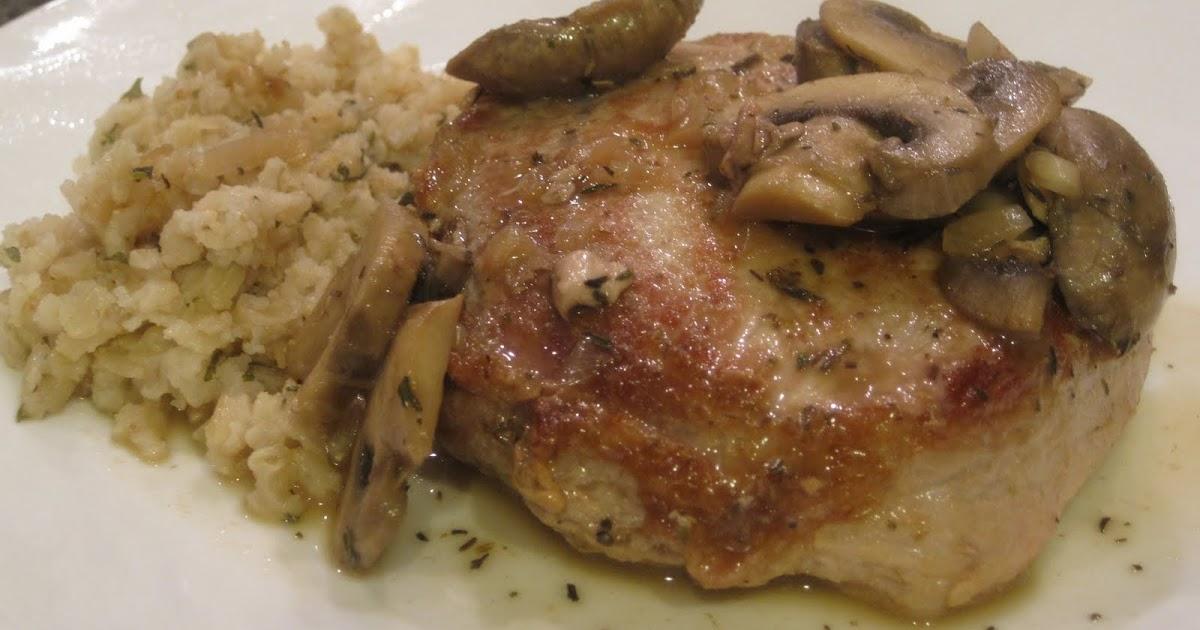 Yum Yum: Pork Chops with Mushrooms & Thyme